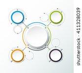 vector abstract molecules  3d...   Shutterstock .eps vector #411328039