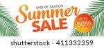summer sale template banner | Shutterstock .eps vector #411332359