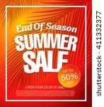 summer sale template banner | Shutterstock .eps vector #411332377