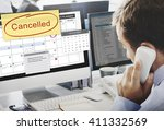 cancelled appointment planner... | Shutterstock . vector #411332569