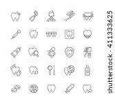 dental care vector icons set.... | Shutterstock .eps vector #411333625