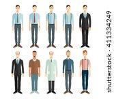 set of vector professionals.... | Shutterstock .eps vector #411334249