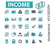 income icons  | Shutterstock .eps vector #411335359