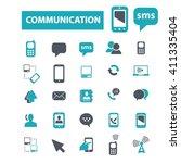 communication icons  | Shutterstock .eps vector #411335404