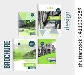 set of vector brochure cover... | Shutterstock .eps vector #411339259