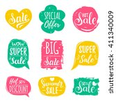 discount cards set of special... | Shutterstock .eps vector #411340009