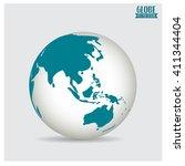world globe  vector...   Shutterstock .eps vector #411344404