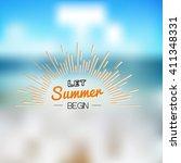 summer time holidays lettering... | Shutterstock .eps vector #411348331