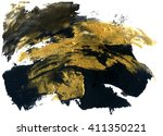 abstract grunge texture. golden ... | Shutterstock . vector #411350221