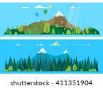 vector flat illustrations   eco ... | Shutterstock .eps vector #411351904