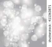 vector glittery lights silver... | Shutterstock .eps vector #411363871
