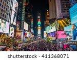 new york  usa   circa march... | Shutterstock . vector #411368071