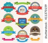set of vintage badges and... | Shutterstock .eps vector #411370159