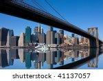 brooklyn bridge and manhattan... | Shutterstock . vector #41137057