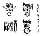set of  lunch time hand drawn...   Shutterstock .eps vector #411370609