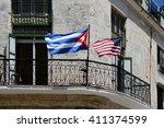 Постер, плакат: Havana Cuba National flag