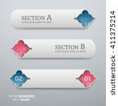 set of signage banner template... | Shutterstock .eps vector #411375214