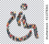 disabled people sign 3d | Shutterstock .eps vector #411378361