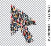 cursor people sign 3d | Shutterstock .eps vector #411378394