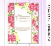vintage delicate invitation... | Shutterstock .eps vector #411379531