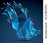 perspective technology...   Shutterstock .eps vector #411381091
