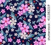 flower pattern | Shutterstock .eps vector #411382219