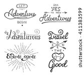 set of adventure and travel... | Shutterstock . vector #411383599
