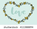 Flower Frame Wreath. Vector...