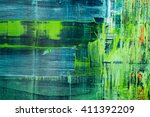 abstract painted canvas. oil... | Shutterstock . vector #411392209