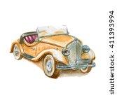 Illustration Of A Retro Car....