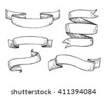 set of  hand drawn vector... | Shutterstock .eps vector #411394084
