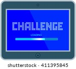challenge concept.motivation... | Shutterstock .eps vector #411395845