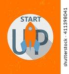 start up and rocket symbol  ... | Shutterstock .eps vector #411398041