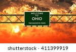 welcome to ohio usa interstate... | Shutterstock . vector #411399919