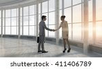 business partners handshake | Shutterstock . vector #411406789