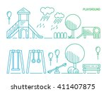 children's playground with... | Shutterstock .eps vector #411407875