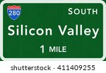silicon valley usa interstate... | Shutterstock . vector #411409255