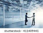 business partners handshake | Shutterstock . vector #411409441