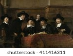 The Syndics  By Rembrandt Van...