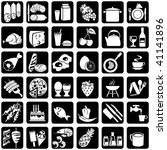 set of vector silhouettes of... | Shutterstock .eps vector #41141896