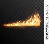 realistic burning fire flames... | Shutterstock .eps vector #411424177