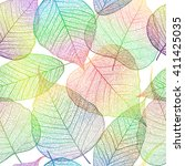 seamless pattern with leaf ...   Shutterstock .eps vector #411425035