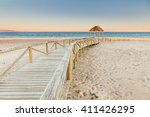 Wooden Boardwalk To The Beach....