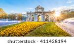the alcala door  puerta de... | Shutterstock . vector #411428194