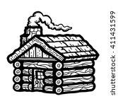 log cabin | Shutterstock .eps vector #411431599