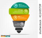 vector light bulb infographic.... | Shutterstock .eps vector #411435739