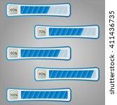percentage progress monitoring... | Shutterstock .eps vector #411436735