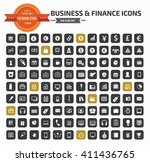 business and financial icon set ... | Shutterstock .eps vector #411436765