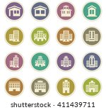 buildings  icon set for web... | Shutterstock .eps vector #411439711