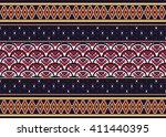 geometric ethnic oriental... | Shutterstock .eps vector #411440395